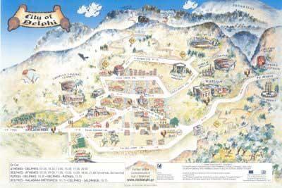 Mappa di Delfi